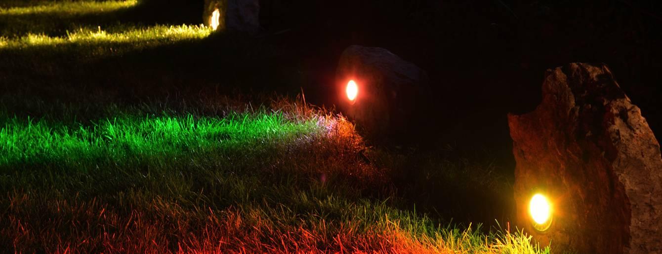 Natural stones for landscape lighting